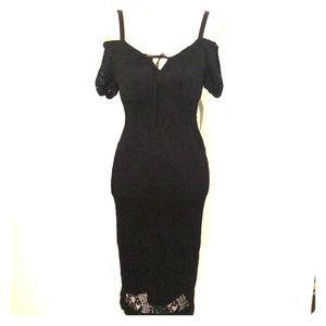 Black dress crochet dress.